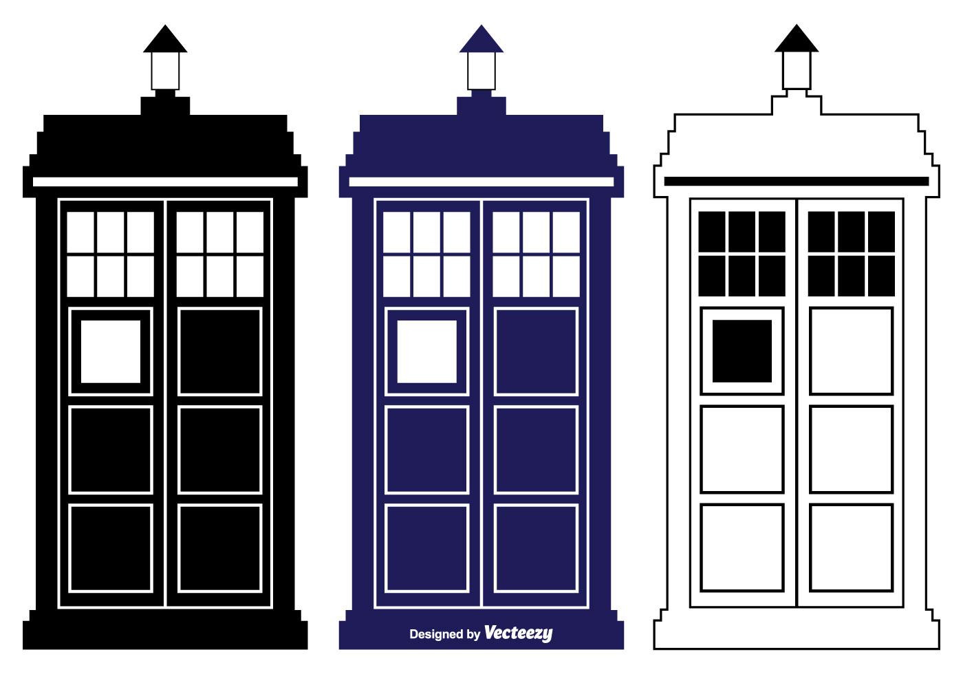 tardis vector silhouette shapes download free vector art Black TARDIS dr who tardis clipart
