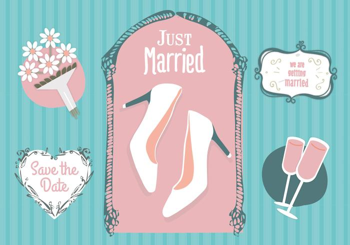 Free Just Merried Vector