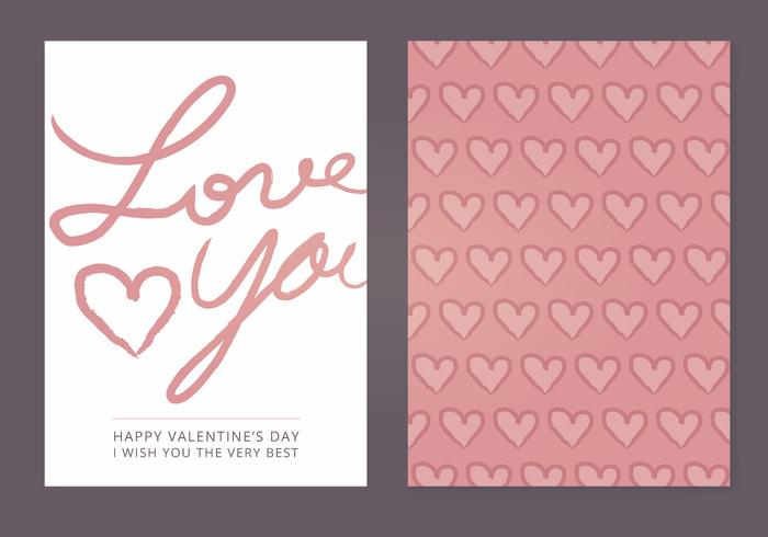 Love You Vector Valentine's Day Card