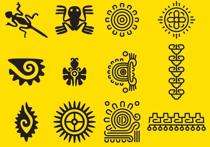 Vector Inca Glyphs