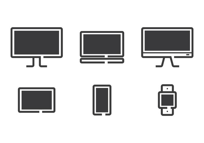 Technology Line Icon Vectors