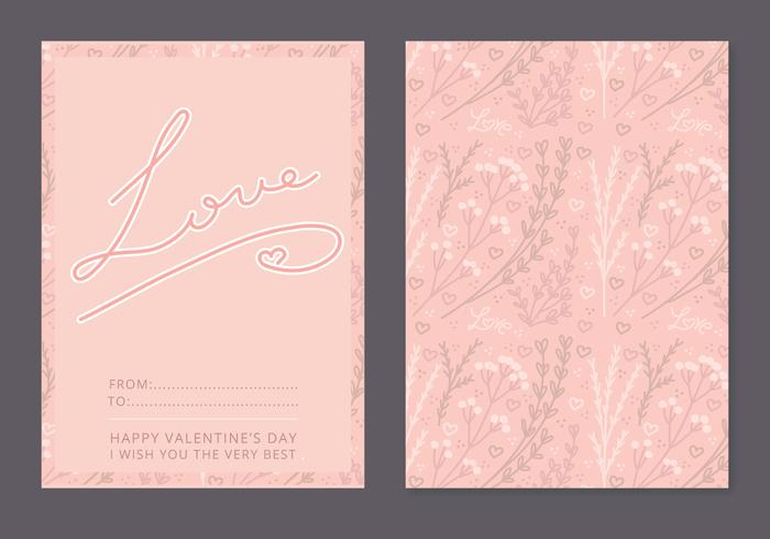 Floral Vector Valentine's Day Card