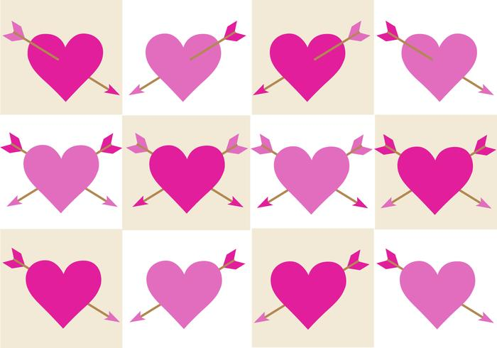 Free Valentines Arrow Vector
