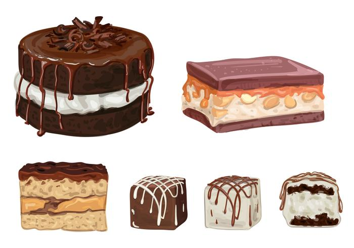 Chocolate Cakes and Truffles Vectors