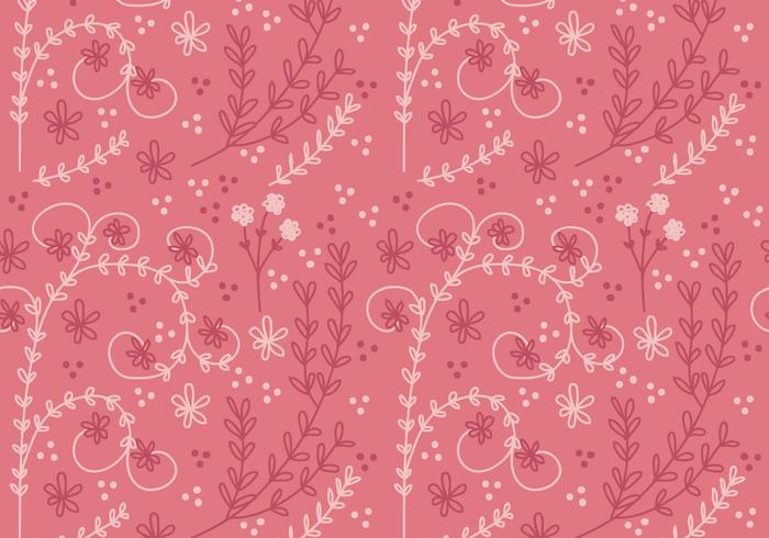 Coral Flower Vector Seamless Pattern