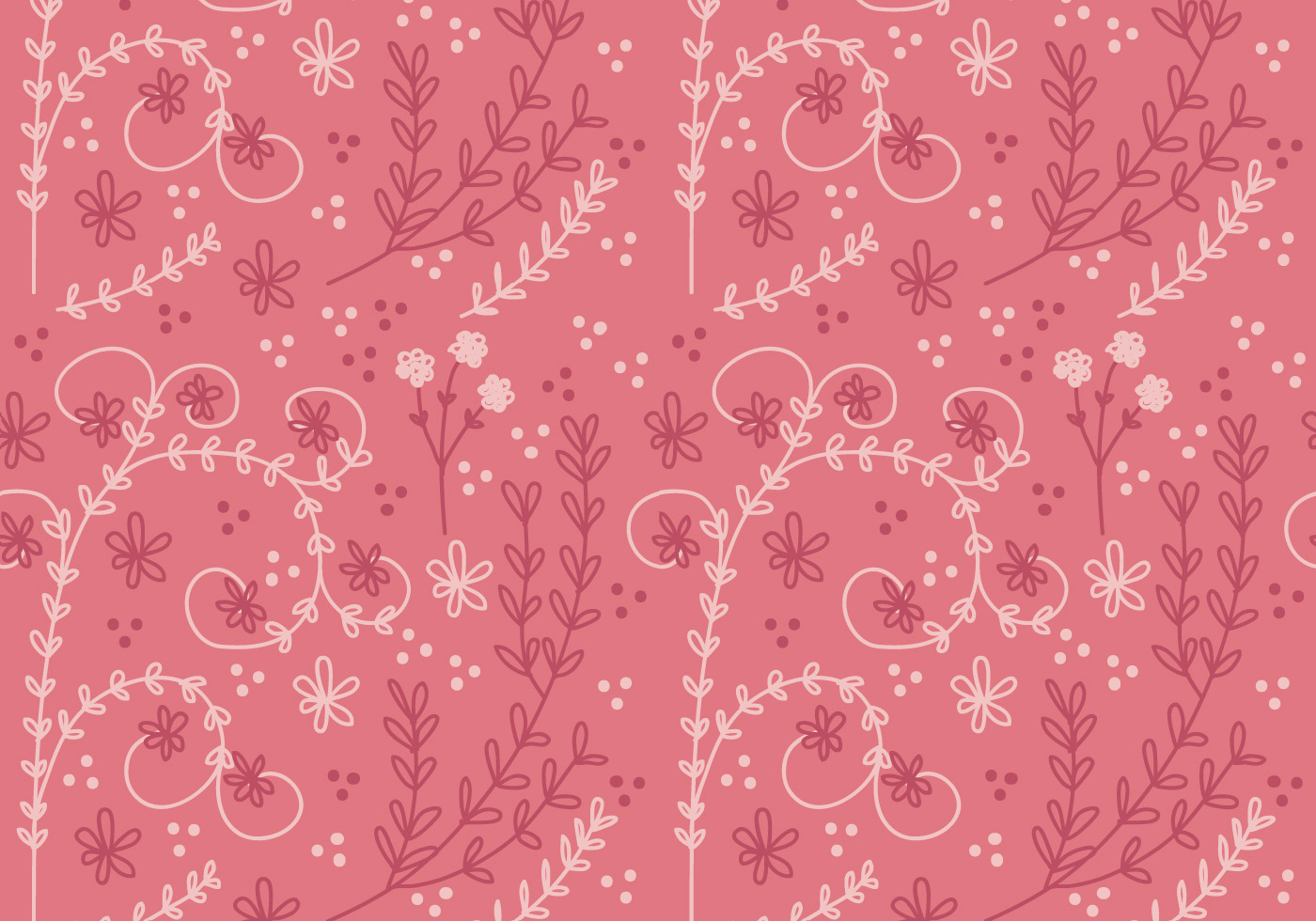 coral flower vector seamless pattern download free
