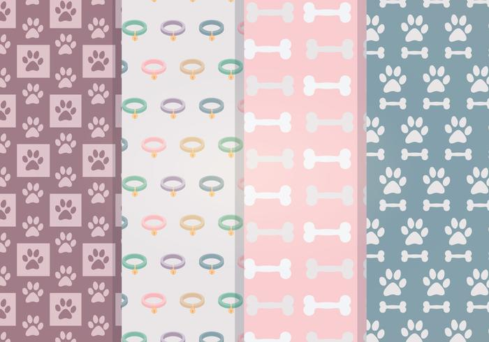 Vector Dog Accessories Patterns