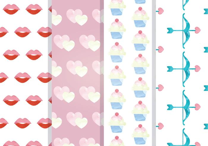 Valentine Vector Seamless Patterns