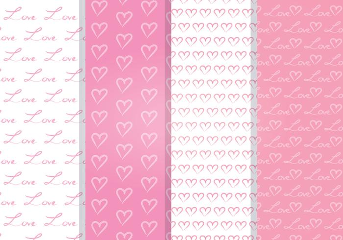 Love Heart Vector Seamless Pattern