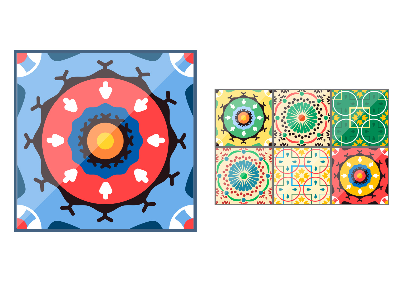 Spanish Ceramic Tile Vectors Download Free Vector Art Stock