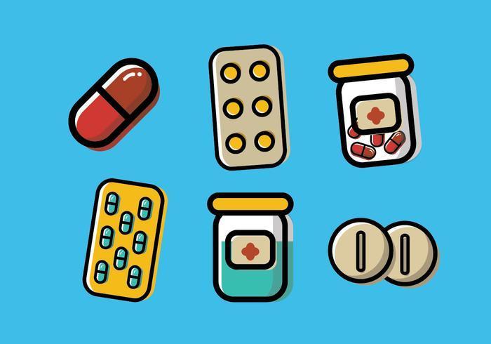 Pill Box Vector