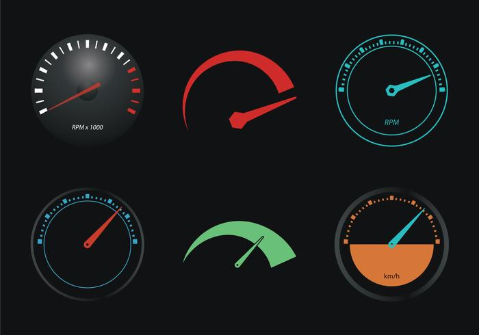 Free Tachometer Vector Illustration