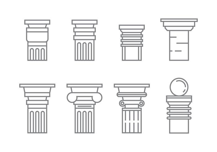 Free Roman Pillar Vector Iconos # 1