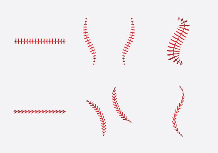 Free Baseball Laces Vector Illlustration