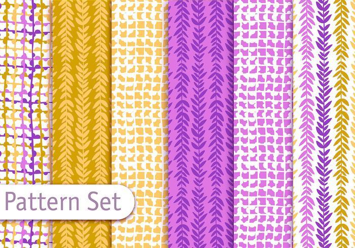 Colorful Decorative Textile Pattern Design Set