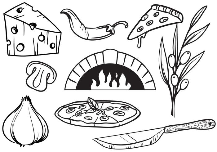 Free Pizza Vectors