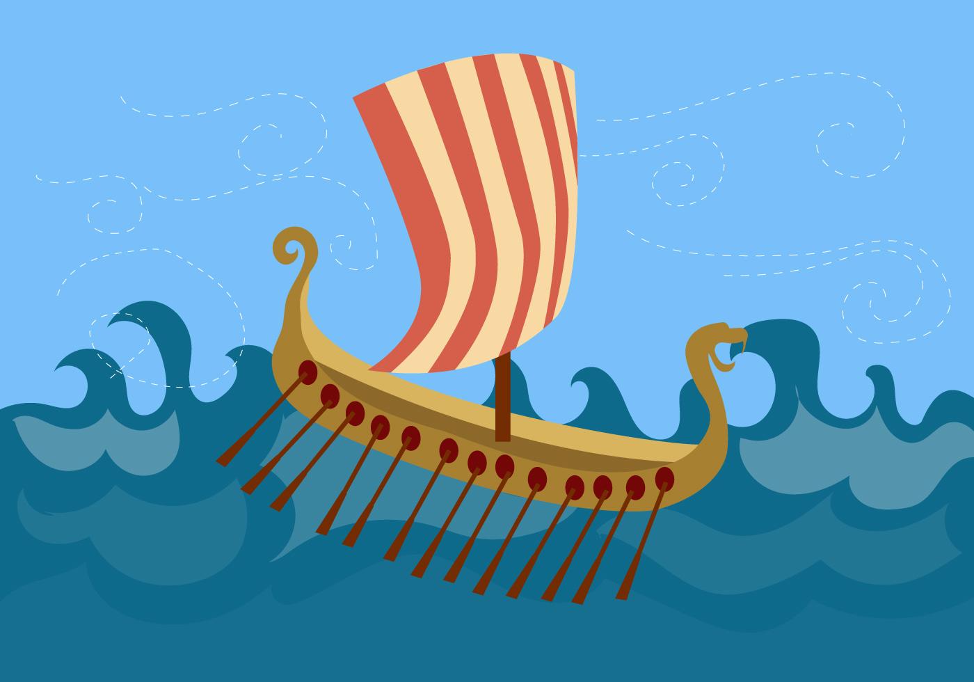 Viking Ship Free Vector - Download Free Vectors, Clipart ...