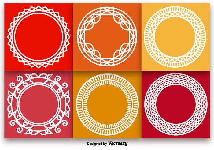Vecteurs de monogrammes de contours blancs