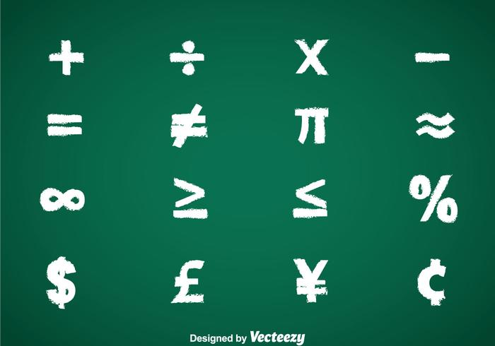 Math Symbols Chalk Draw Vector Sets Download Free Vector Art