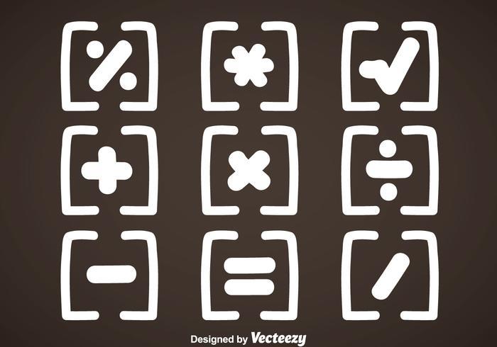 White Math Symbols Vector