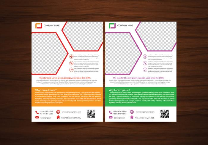 Corporate brochure flyer design layout template in a4 size with bleed - Vector Brochure Flyer Design Layout Template In A4 Size