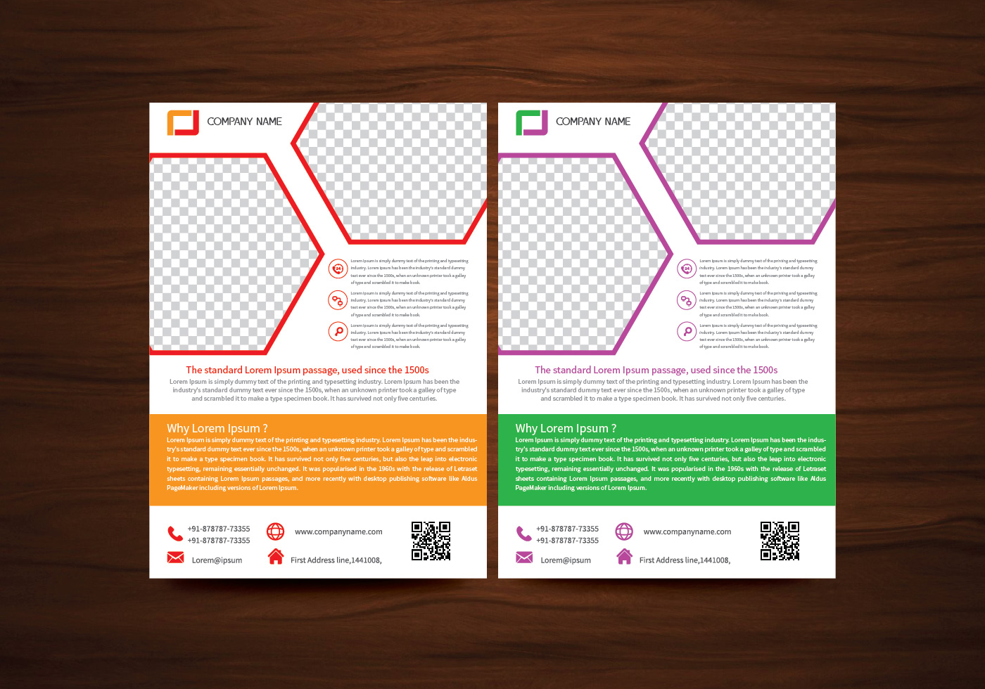 Vector brochure flyer design layout template in a4 size for Free templates for catalogue design