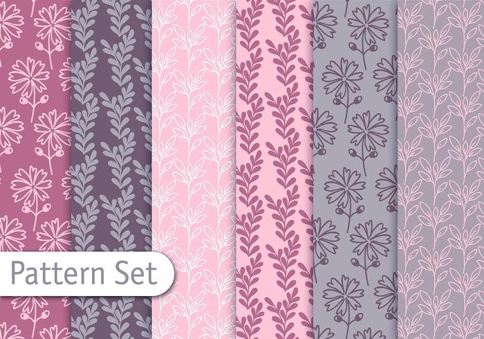 Soft Nature Pattern Set vector