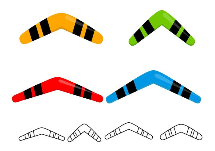 Free Boomerangs Set Vector