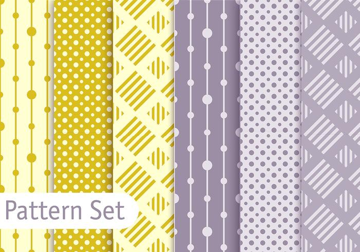 Soft Pastel Geometric Pattern Set
