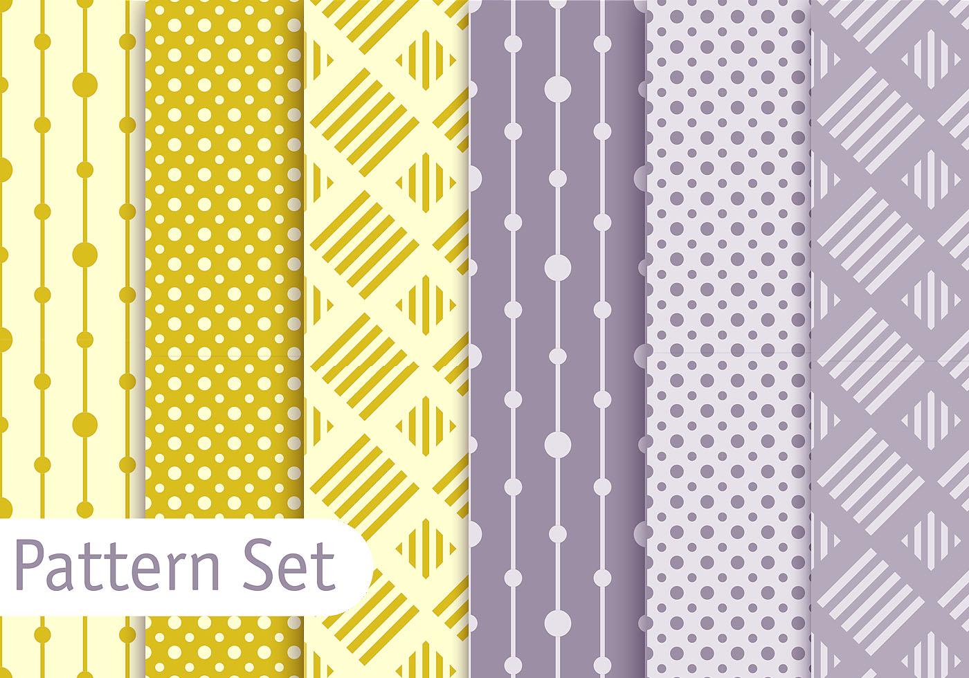 Soft Pastel Geometric Pattern Set Download Free Vector Art Stock Graphics Amp Images