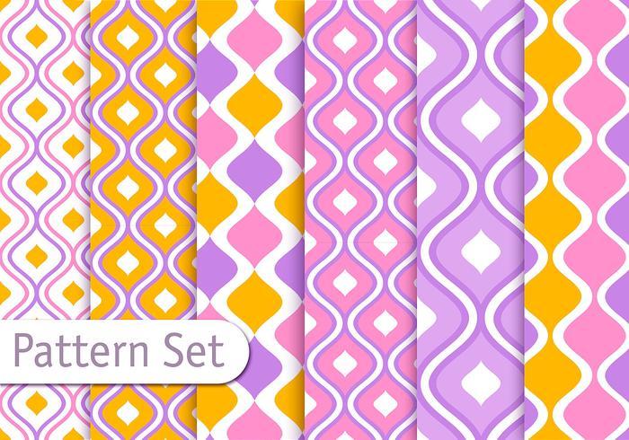 Colorful Decorative Pattern Design Set
