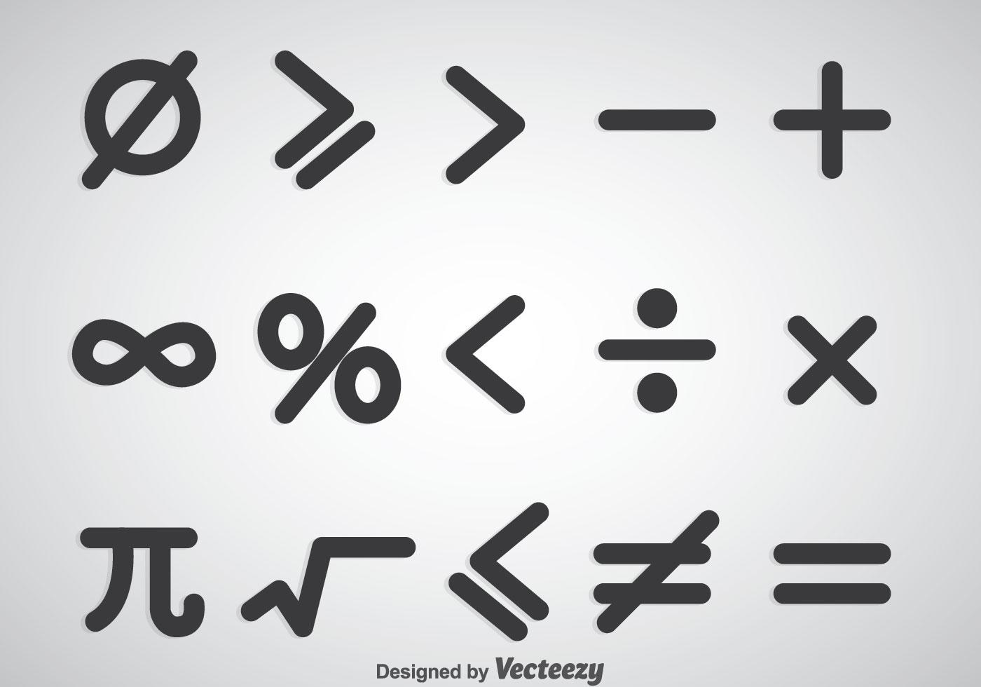 Math Symbols Vector Sets - Download Free Vector Art, Stock Graphics ...