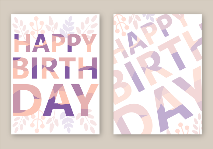 Free Happy Birthday Card Vector