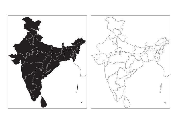 State Map of India Vector