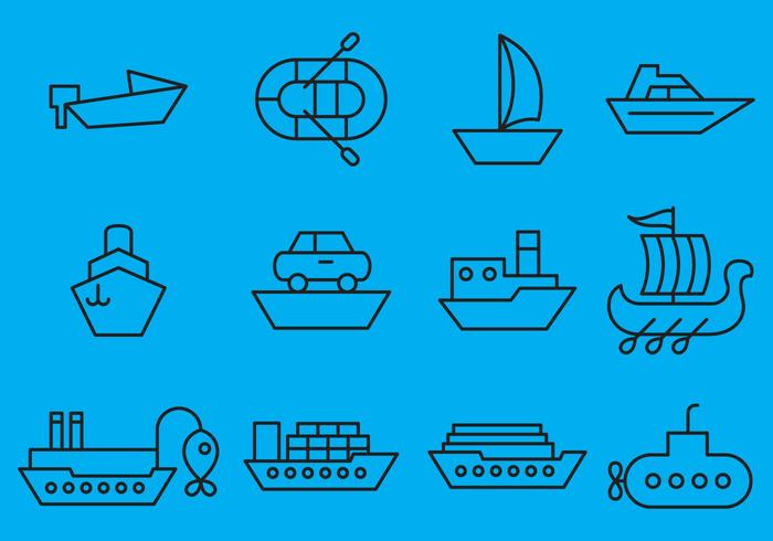 Vector Ships Icons