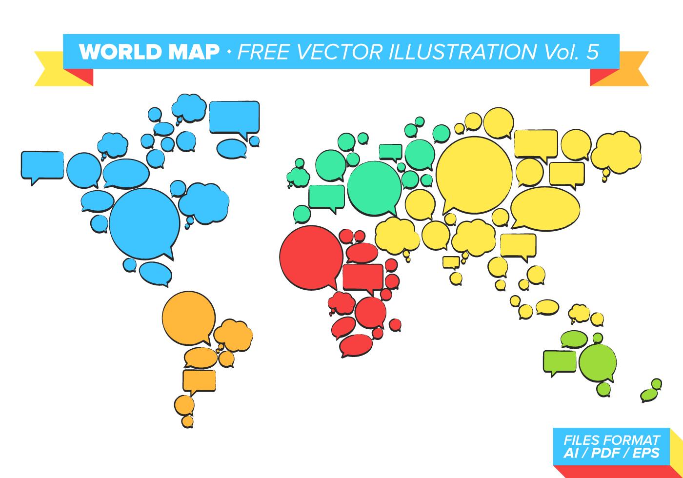 World Map Free Vector Illustration Vol 5 Download Free Vector Art Stock G