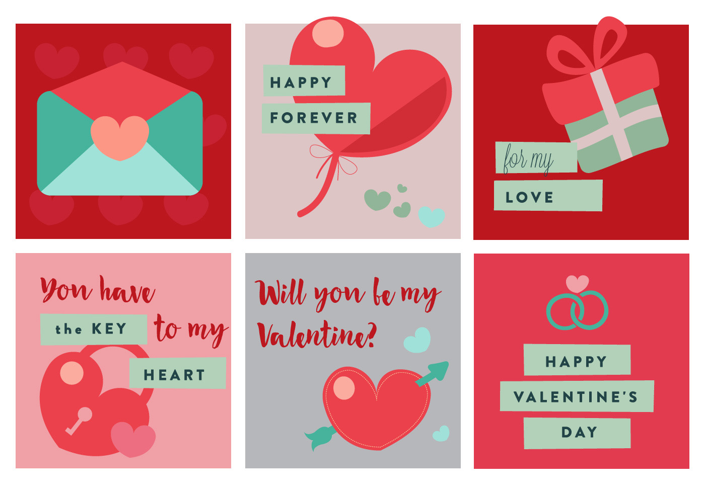Valentine's Day Vector Elements And Icons - Download Free Vector Art ...