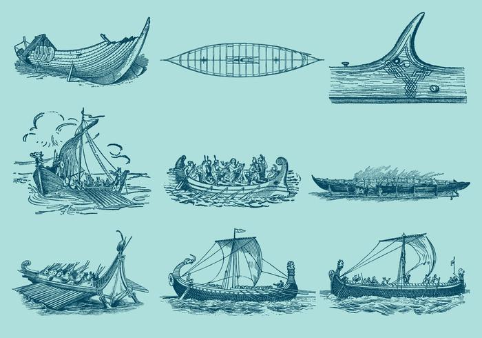 Antique Ship Vectors