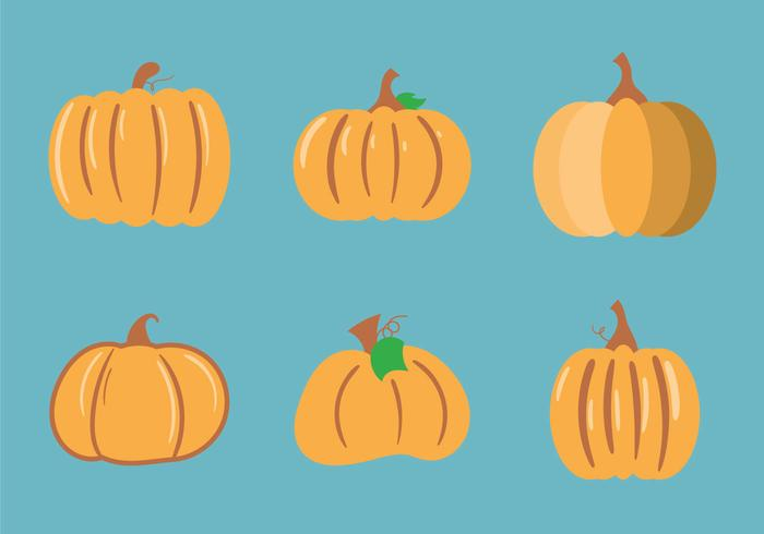 Free Pumpkin Patch Vector Illustration