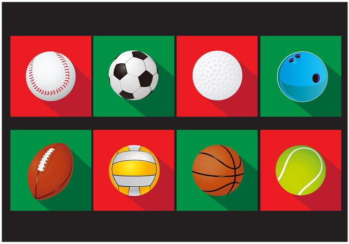 Set of Sports Ball Vector Icons