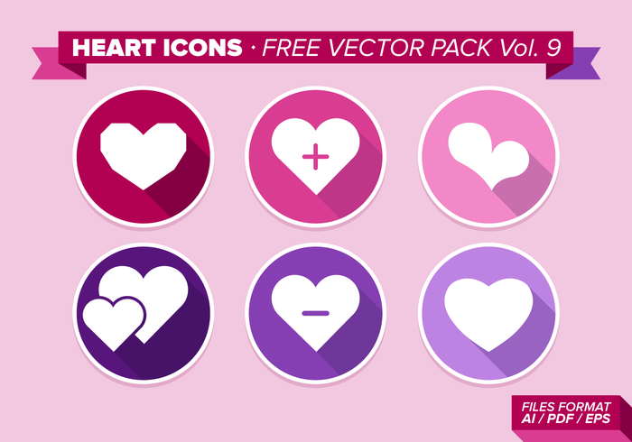 Heart Icons Free Vector Pack Vol. 9