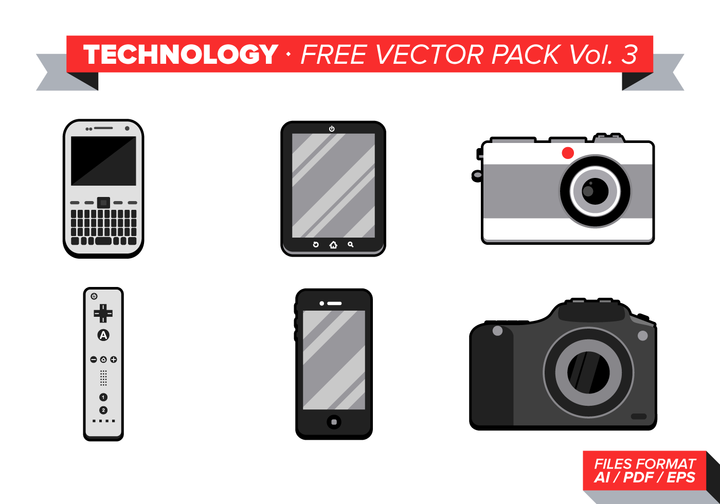 Technology Free Vector Pack Vol. 3 - Download Free Vector ...