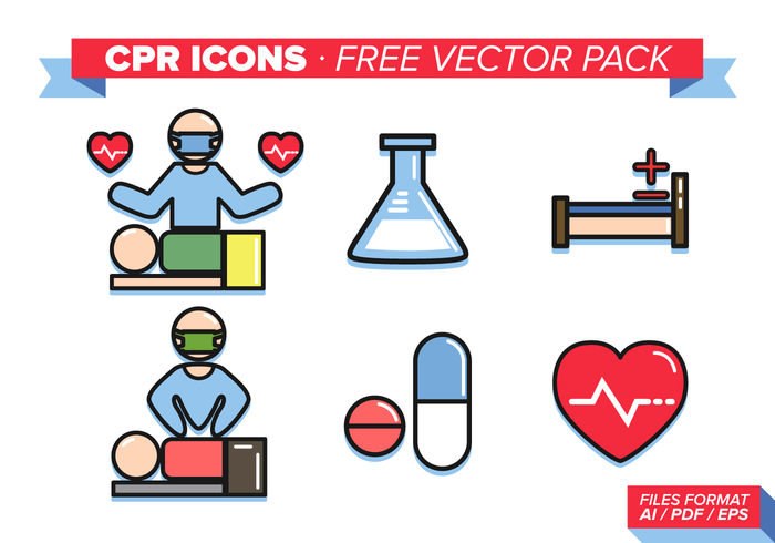 Cpr Icons Free Vector Pack