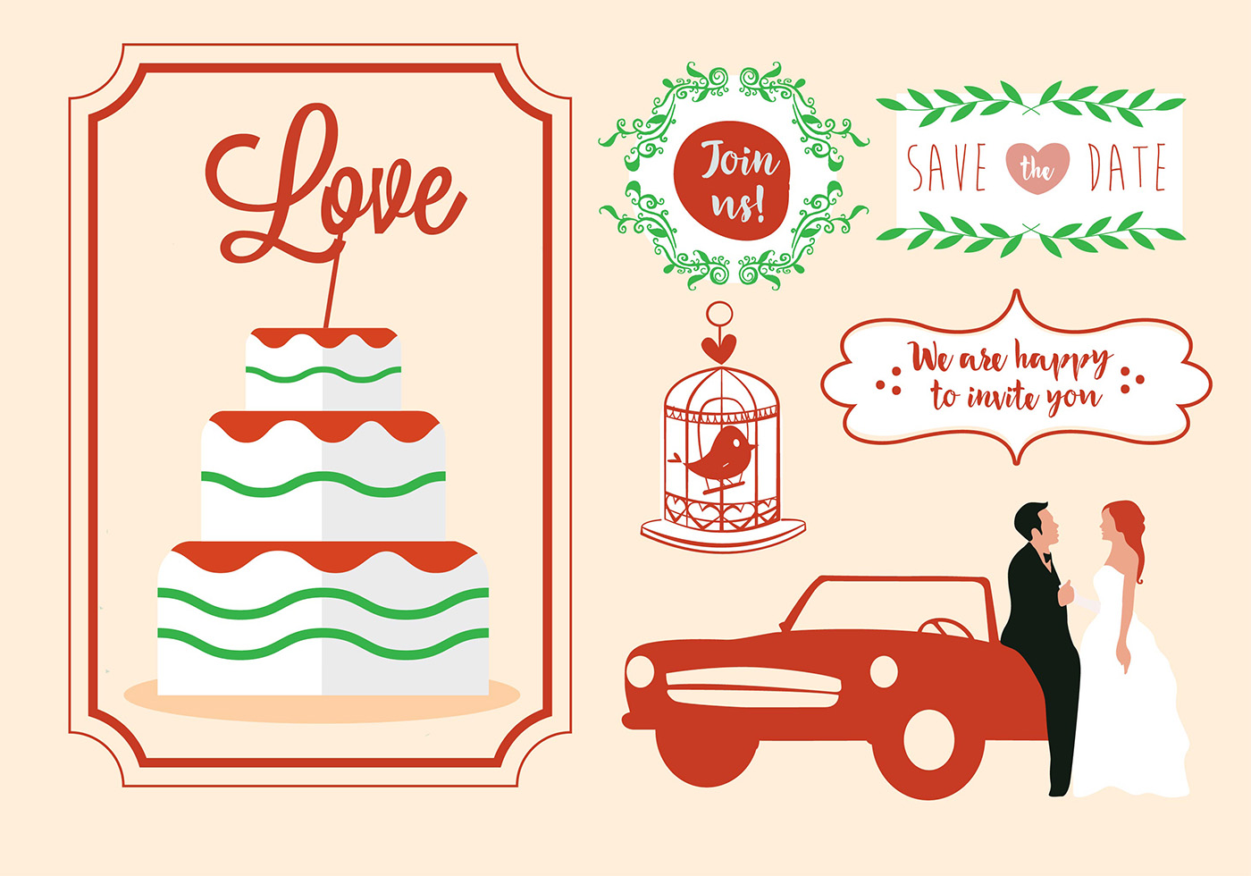 Free Vector Wedding Card Design Download Free Vectors