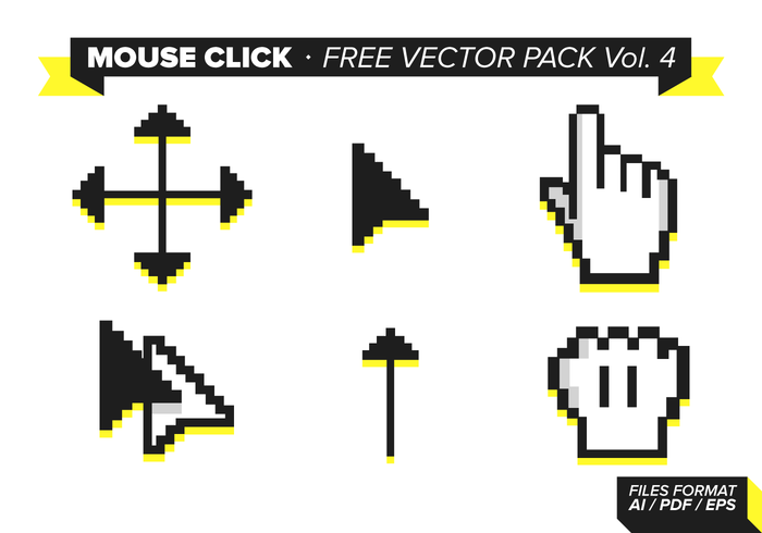 Mouse Click Free Vector Pack Vol. 4