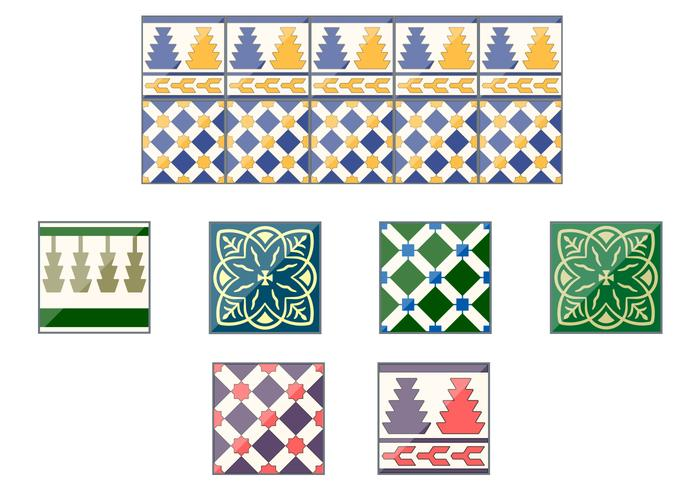 Spanish Talavera Ceramic Vector Tiles