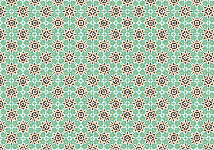Green Mosaic Pattern Background