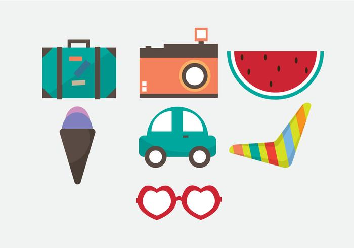 Free Vacation Vector Icons