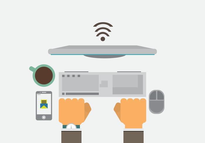 Ilustración vectorial de tecnología libre # 2