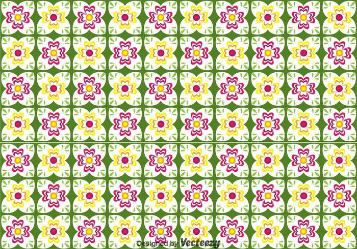 Talavera Flower Seamless Pattern